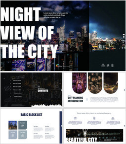 Night View of the City Theme Keynote Design_00