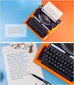 Old paper and Typewriter Mockup PPT_00