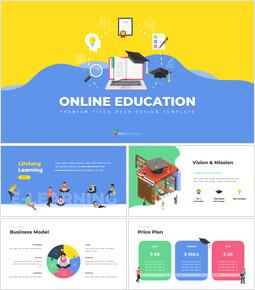 온라인 교육 서비스 최고의 파워포인트 프레젠테이션 애니메이션 슬라이드_00