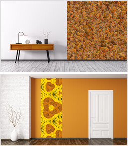Orange, Yellow Color Artwall Mockup Presentation_00
