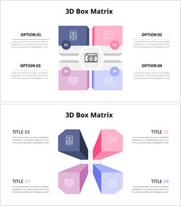 Pastel Tone 3D Box Matrix  Diagram_00