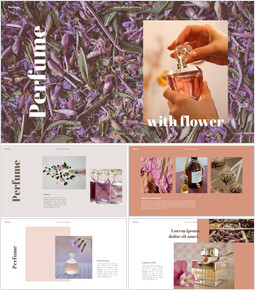 Perfume with Flower PowerPoint Templates_00