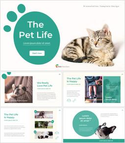 애완 동물 생활 프레젠테이션을 위한 구글슬라이드 템플릿_00