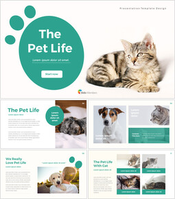Pet Life Simple PowerPoint Template Design_00