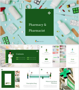 Pharmacy & Pharmacist PowerPoint deck Design_42 slides