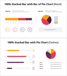 Pie and 100% Stacked BarChart_00