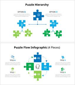 퍼즐 조각 Infographic 다이어그램_00