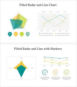 レーダーと折れ線グラフ_8 slides