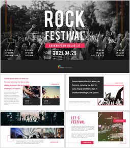 Rock Festival PPT Templates Simple Design_00