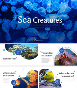 Sea Creatures Templates for PowerPoint_00