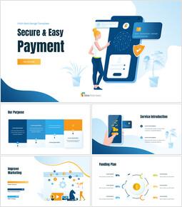 Secure&Easy Payment Google Slides Template Diagrams Design_00