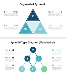 セグメント化ピラミッドチャート図_6 slides