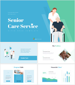 Senior Care Pitch Deck Template PowerPoint Presentation Templates_00
