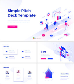 Simple Pitch Deck Template Simple PowerPoint Template Design_00