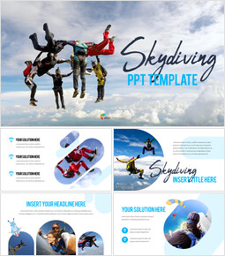Skydiving premium PowerPoint Templates_00