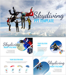 Skydiving Simple Google Slides Templates_00