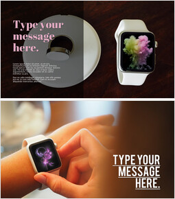 SmartWatch Mockup PPT Templates Design_00