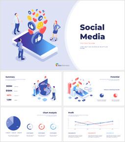 소셜 미디어 피치덱 프레젠테이션용 Google 슬라이드 테마_00