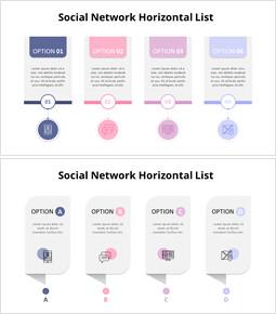 소셜 네트워크 수평 목록 다이어그램_00