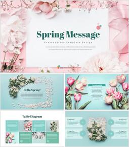 봄 메시지 프레젠테이션용 Google 슬라이드_00