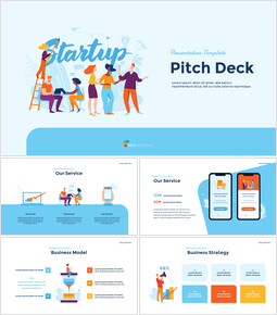 Startup Business Design Pitch Deck PPT animation templates_00