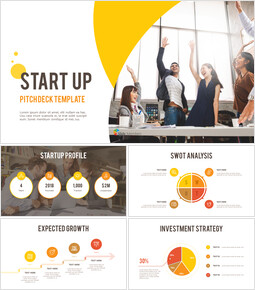 Startup Pitch Deck Circle Design Template Simple Templates_00