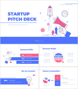Startup Pitch Deck Flat Design PowerPoint Presentation Examples_00
