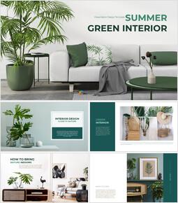 Summer Green Interior Simple Google Templates_00