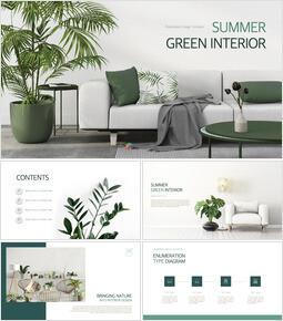 Summer Green Interior Theme Keynote Design_00