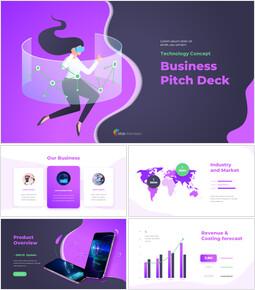 Piattaforma del passo di affari di concetto di tecnologia Esempi di presentazione aziendale_00