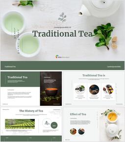 Traditional Tea Google Slides Template Design_00