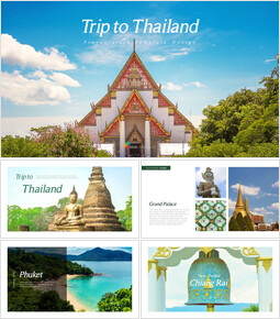 Trip to Thailand Simple Templates_40 slides