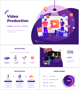 Video Production Group Pitch Deck Google Slides Themes for Presentations_00