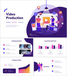 Video Production Group Pitch Deck Keynote Templates_00