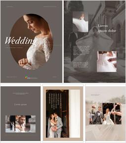 Wedding Theme Vertical PowerPoint Presentation Design_00
