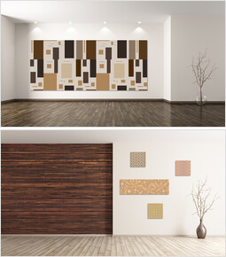 Wood Artwall Mockup PPT Templates_00