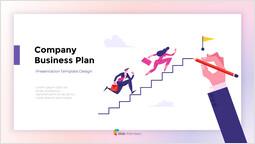 회사 사업 계획 보고서 표지 슬라이드_00