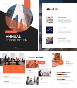 연간 보고서 디자인 레이아웃 테마 Google 슬라이드_00