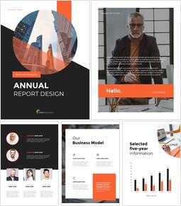 연간 보고서 디자인 레이아웃 파워포인트_00
