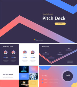 Creative Project Pitch Deck Simple Google Slides Templates_13 slides