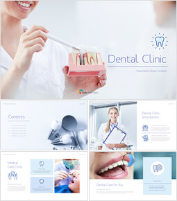 Dental Clinic Simple PowerPoint Templates_00
