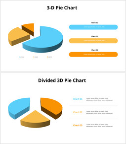 Exploded 3D Pie Chart and Text Boxes_00