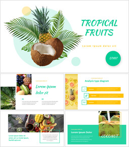 열대 과일 편집이 쉬운 Google 슬라이드_00