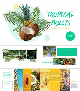 열대 과일 테마 PT 템플릿_00
