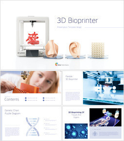 3D Bioprinter Keynote Templates for Creatives_00