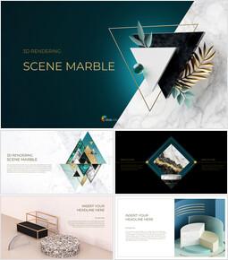 3d Rendering Scene Marble Business plan PPT_00