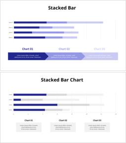 4つのカテゴリの積み上げ横棒グラフ_14 slides
