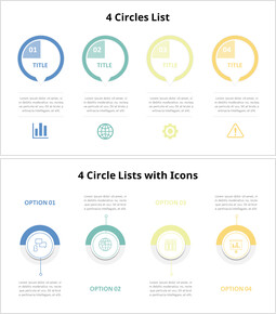 4 Circle Lists Diagram with Icons_00