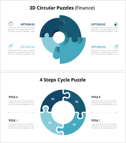 4 Stages Circular Puzzle Animation Diagram_18 slides