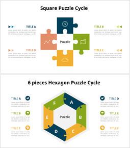 Diagramma animato - Diagramma del ciclo del puzzle_16 slides